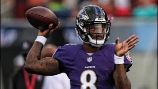 Lamar Jackson's First Drive of his NFL Career Featuring Ray Lewis Interview