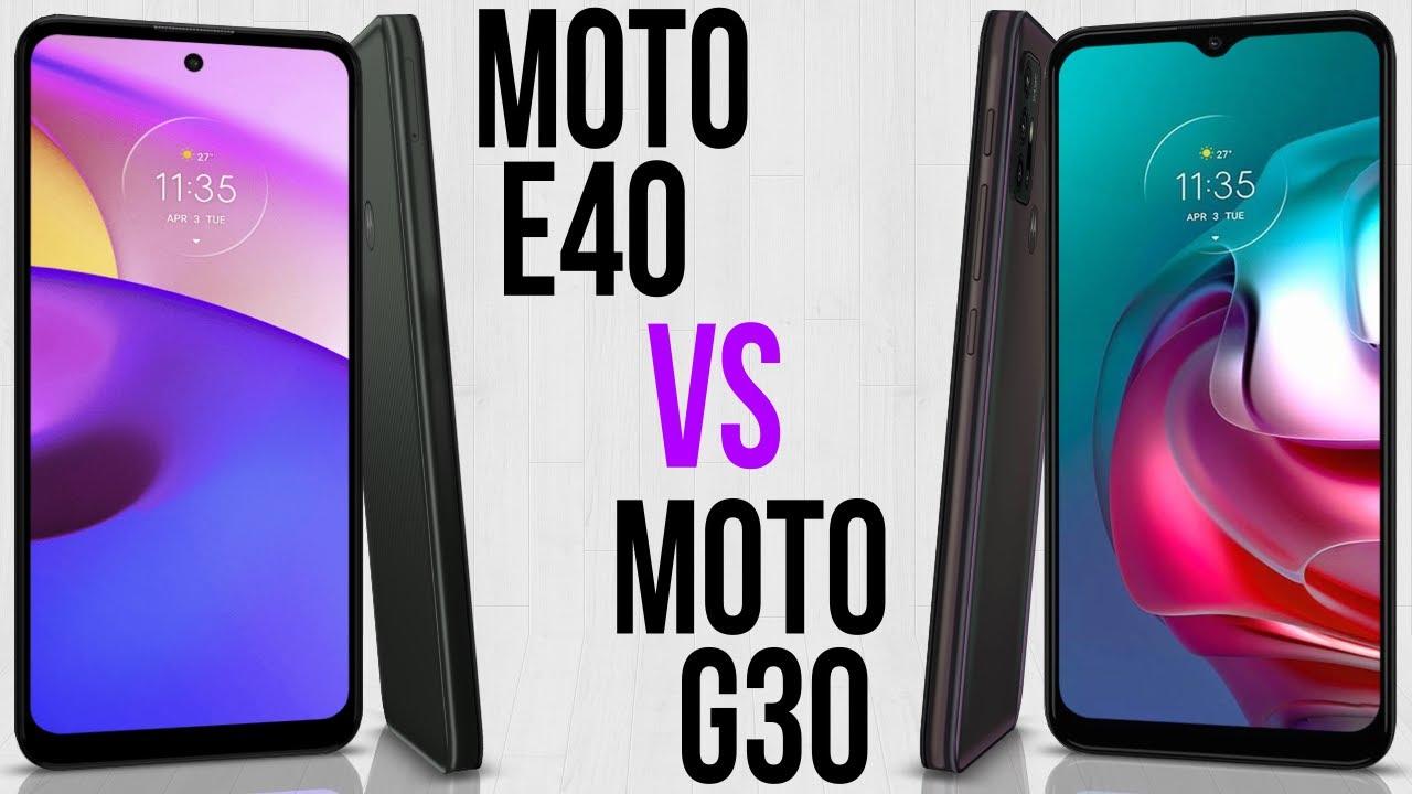 Moto E40 vs Moto G30 (Comparativo)