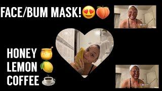Homemade Honey Lemon Coffee Face Mask introducing my SON