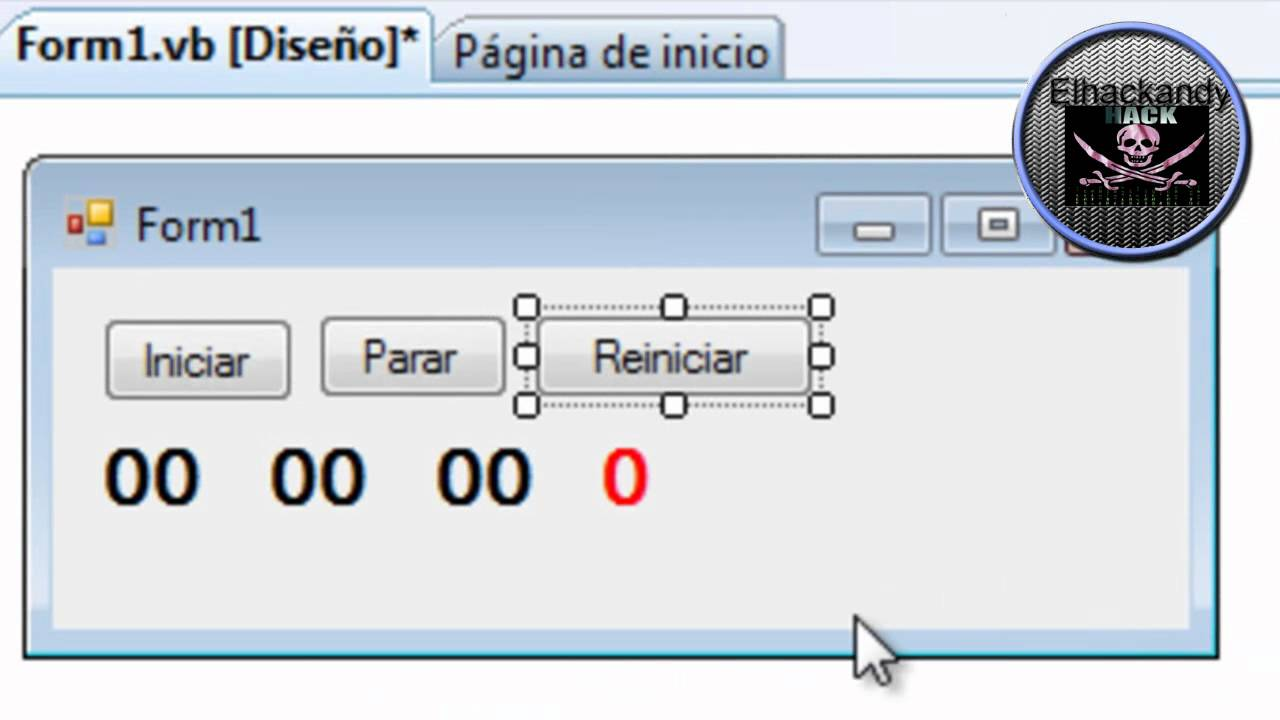 crear cronometro con visual basic 2008 youtube