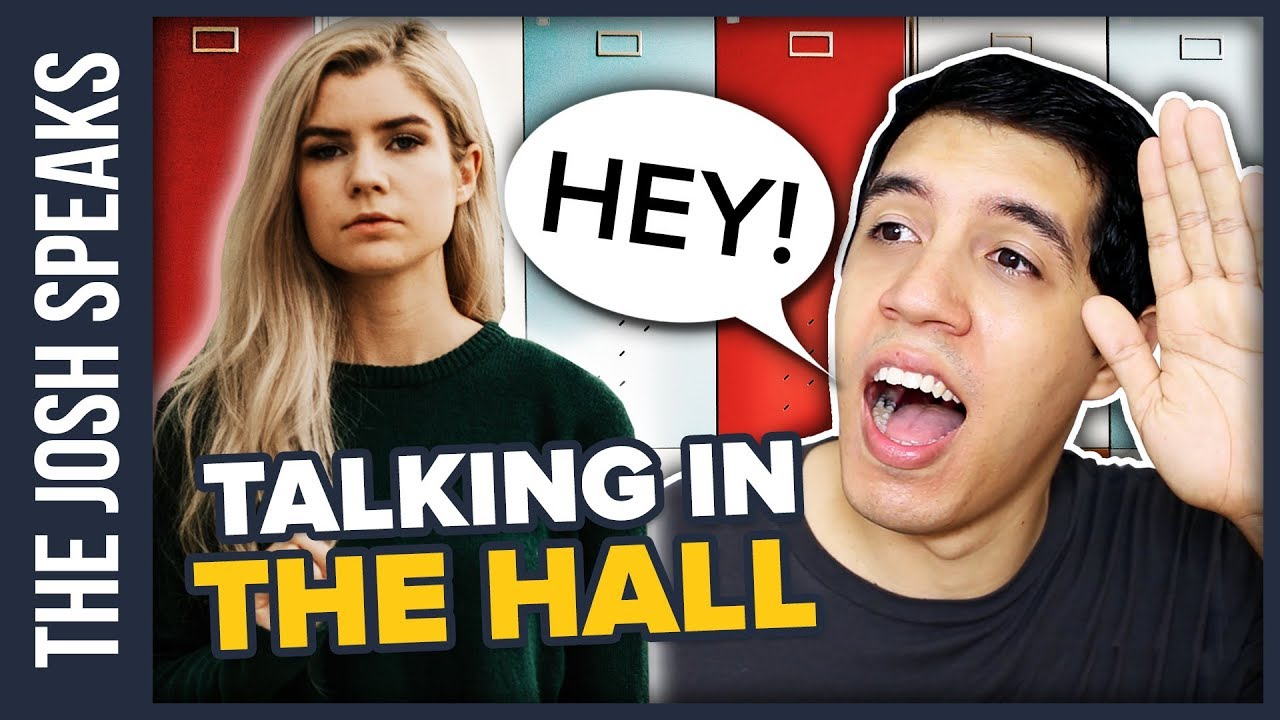 How To Talk To Your Crush In The Hallway at School - YouTube
