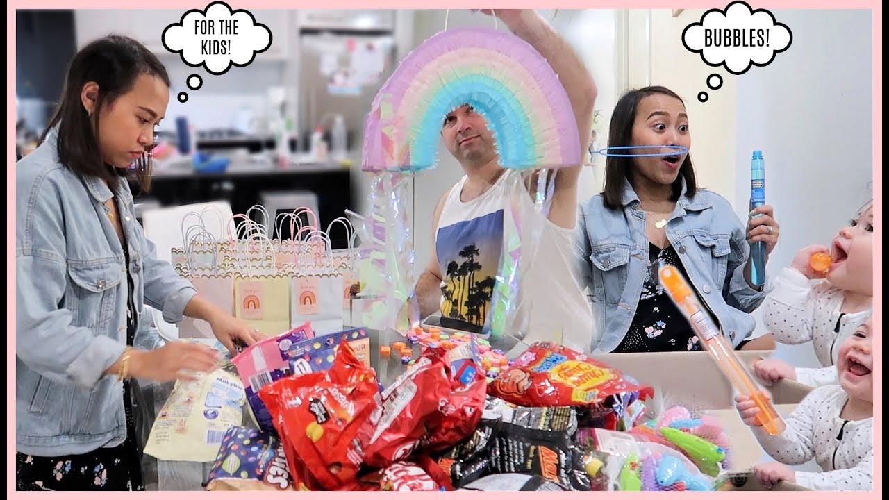 MAY MGA PARTY BAGS NA! KAILANGAN HAPPY ANG KIDS! CHOCOLATES AND TOYS OVERLOAD! ❤️ | rhazevlogs