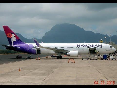 Boeing 767 Hawaiian Airlines GoPro Flight Lihue, Kauai (LIH) to Los Angeles (LAX)