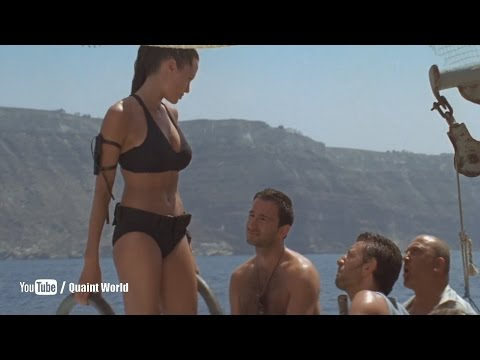 Angelina Jolie Water Boat Riding   Lara Croft Tomb Raider: The Cradle of Life 2003