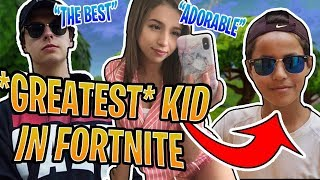 CIZZORZ AND POKI PLAY WITH THE BEST KID EVER | Full Fortnite Game