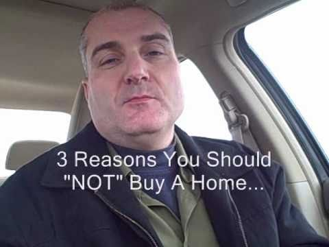 3 Reasons Not To Buy A Home - Lancaster PA Real Estate Video Blog