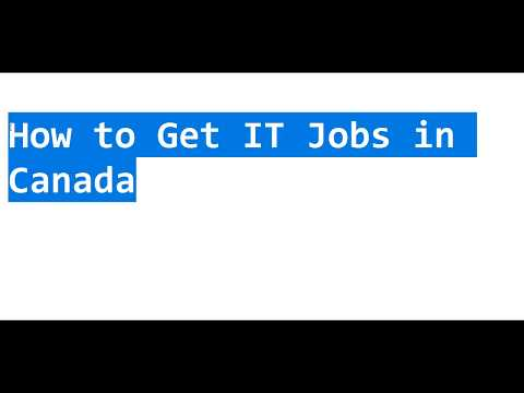 How To Get IT Jobs In Canada