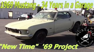 34 Years in storage! 1969 Ford Mustang Garage Find Part 1 Mustang Connection