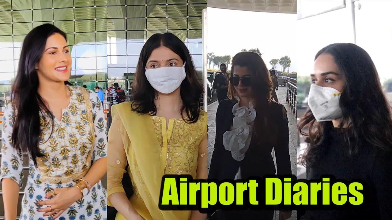 Divya Khosla Kumar In DESI Avatar, Amyra Dastur Talks SWEETLY With Media At The Airport