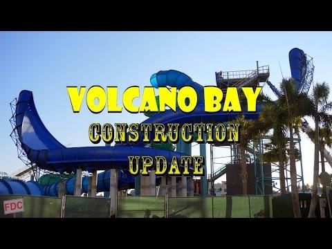 Universal Orlando Resort Volcano Bay Construction Update 11.19.16 CRAZY NEW SLIDES GOING UP!
