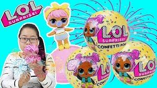ĐỒ CHƠI QUẢ TRỨNG CÔNG CHÚA BÚP BÊ  LOL Surprise Doll Series 3 Confetti POP