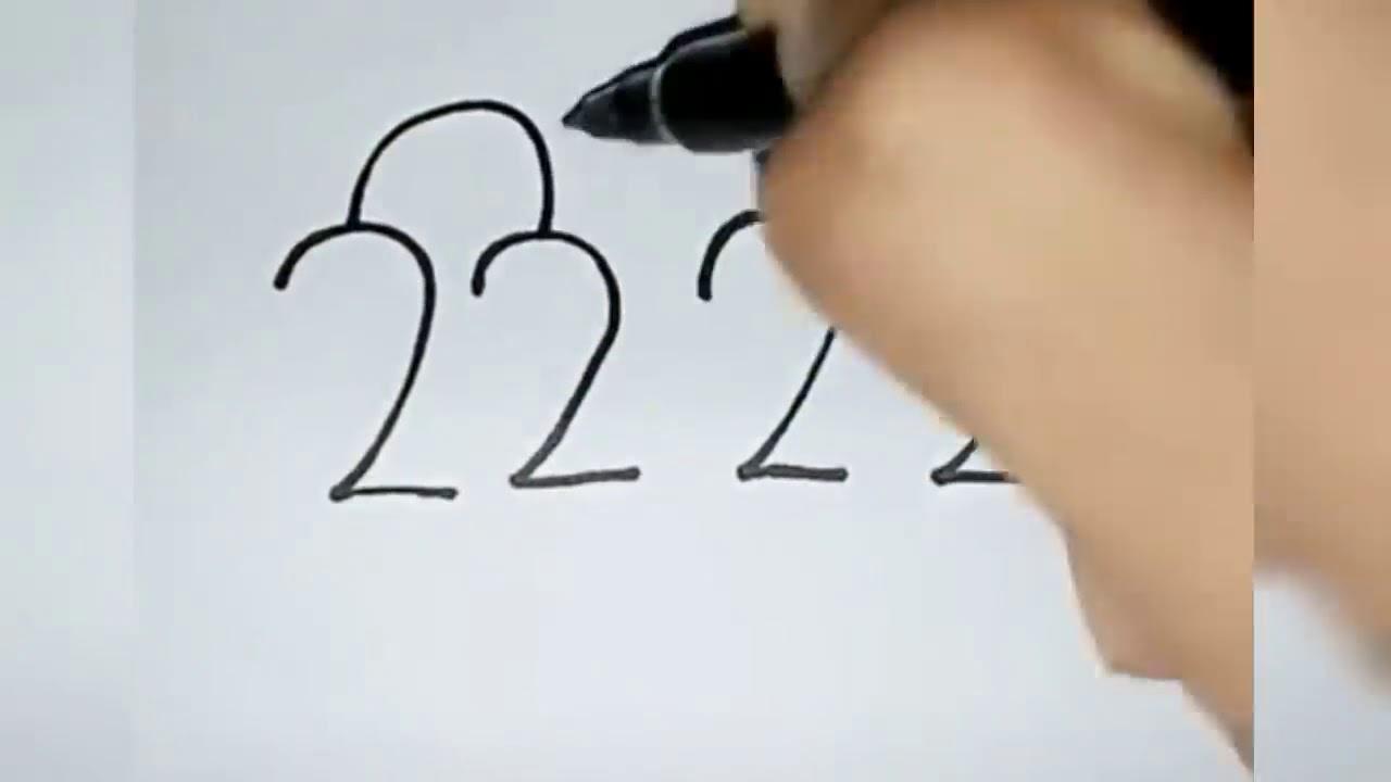 تعليم الرسم بطريقة سهلة جدا جدا انظر كيف رسم الفنان برقم 2222