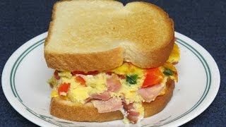 How To Make A Western Sandwich In The Toaster Oven~easy Cooking