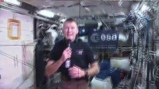 Tim Peake broadcast from the International Space Station