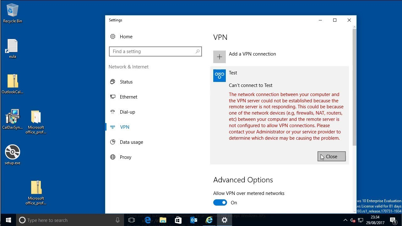 Windows 10 connecting to an L2TP VPN Server that is behind ...
