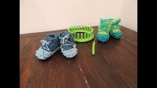 facili scarpine da neonato con il telaio circolare