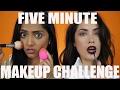 5 Minute Makeup Challenge w/ Deepica Mutyala! | Melissa Alatorre