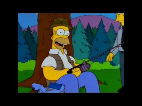 Homer Simpson Fishing