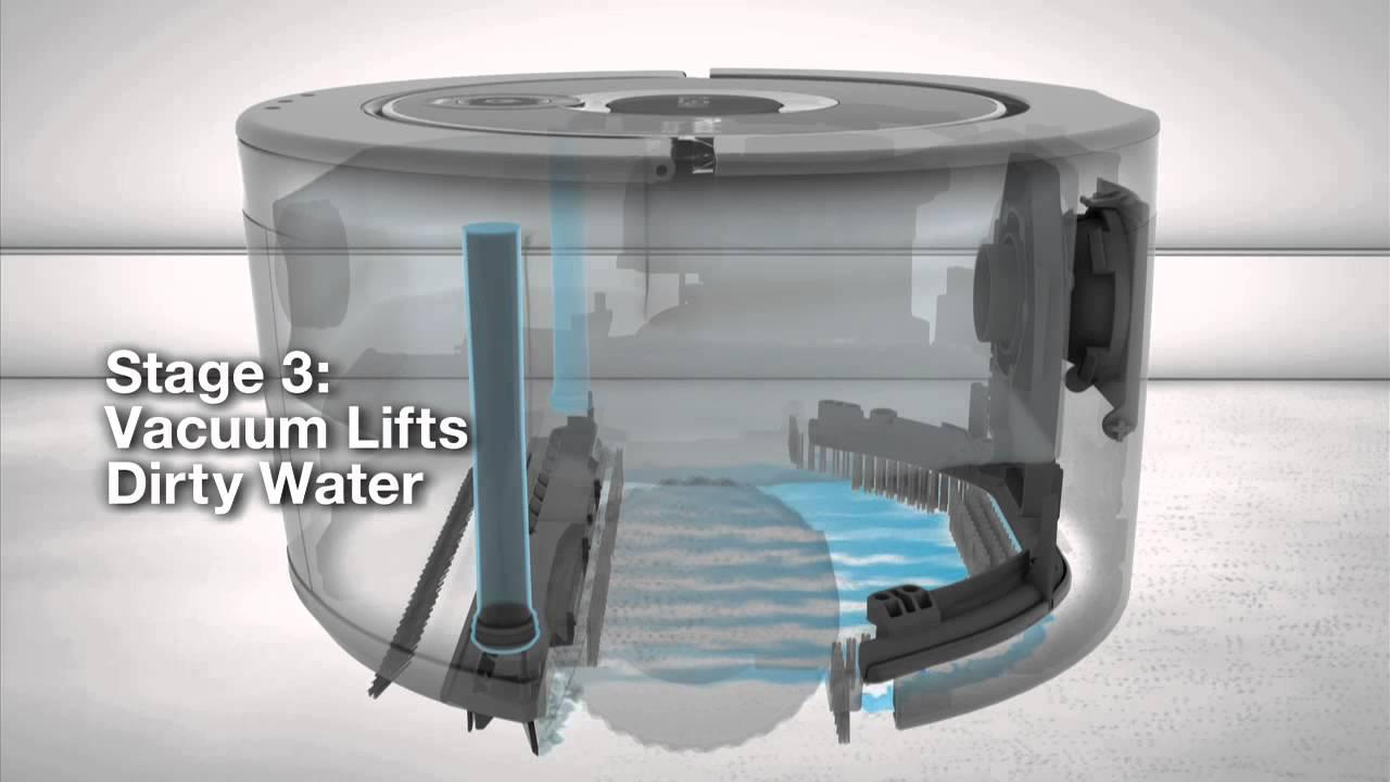 How Irobot Scooba 174 230 Floor Washing Robot Works Youtube