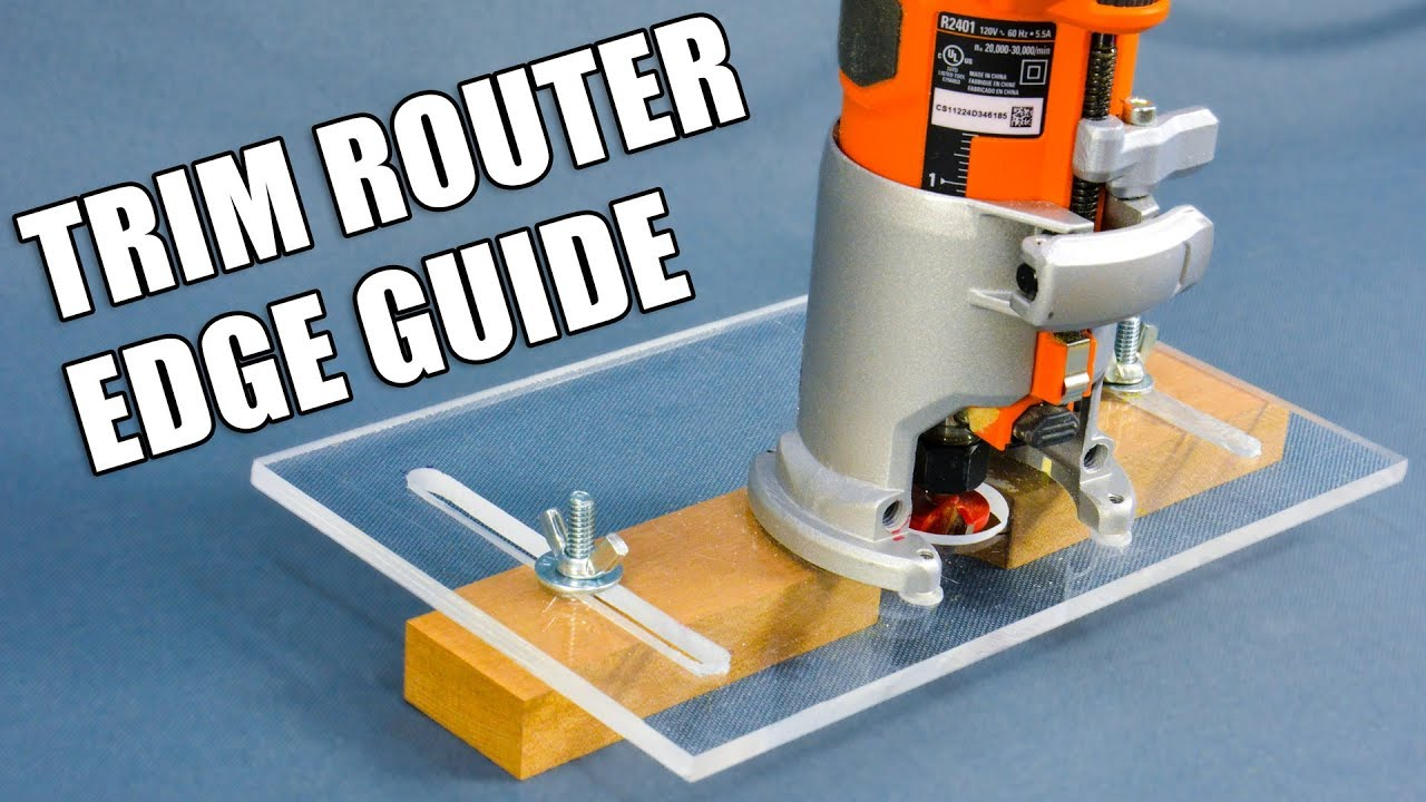 Making A Trim Router Edge Guide Jig Palm Router Edge