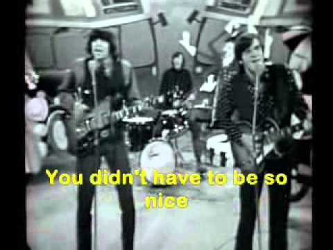 You didn't have to be so nice (Lyrics) Lovin Spoonful