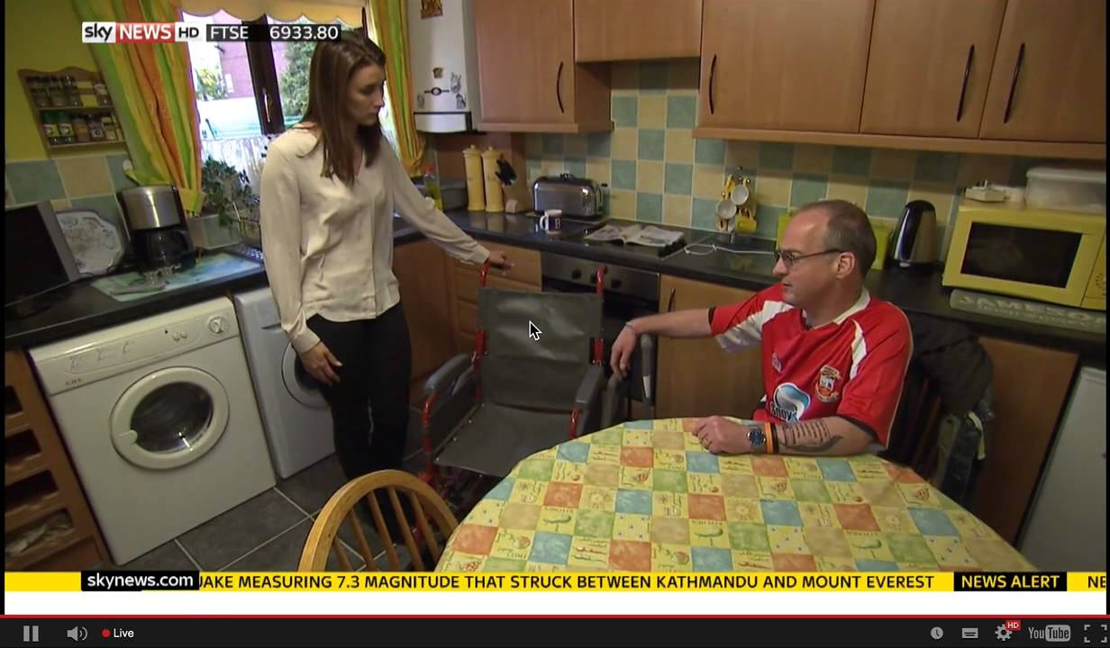 Martin Warrillow Stroke Survivor Sky News Sorry No Sound It Didn 39 T Record That Oops Youtube