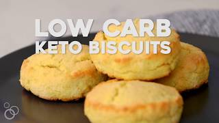 Low Carb Keto Biscuits #keto #paleo #glutenfree