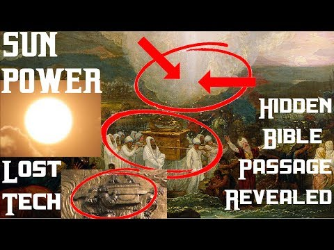 """MIDDAY SUN,"" (""FUSION"" technology?) inside the ""ARK of the COVENANT""!!?"