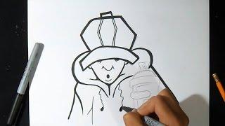 como desenhar  personagem  de boné com Aerossol | Wizard art - by Wörld