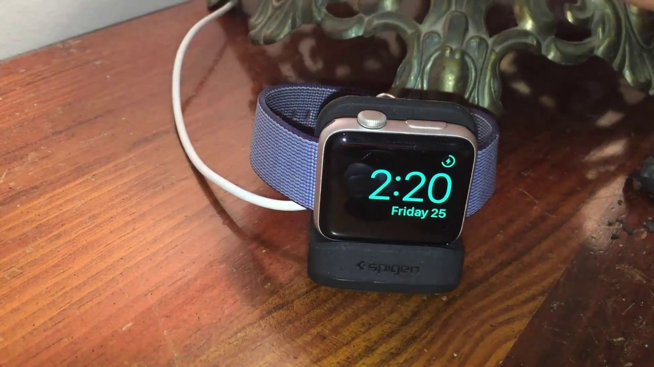 size 40 bceb1 0b4c9 Spigen S350 Apple Watch Stand with Night Stand Mode for Apple Watch Review
