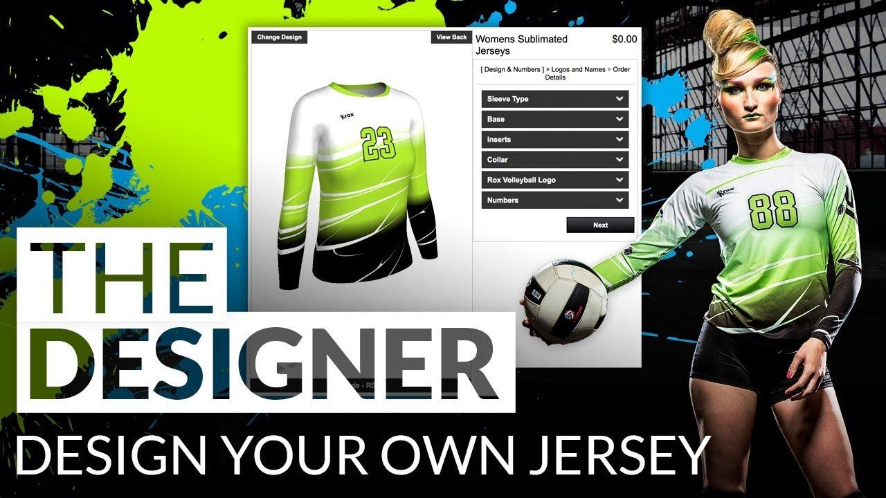 Custom Team Uniform Designer For Sublimation Rox Volleyball