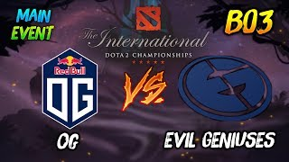 OG vs Evil Geniuses ► The International Dota 2 2019 Main Event ( TI9 Day 7 ) 😎 | dota 2
