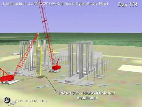 Construction of a Combined Cycle Power Plant