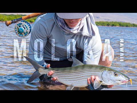 Fly Fishing Giant Bonefish, GT's, And Milkfish On The Flats Of Molokai, Hawaii With Fly Rods, Kayaks