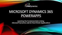 Training Webinar Microsoft Dynamics 365 - PowerApps (30:50)
