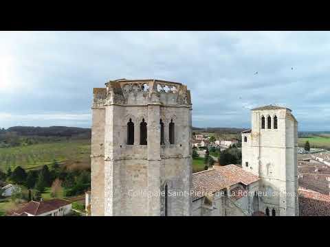 Visite d'un monument historique en vue aérienne