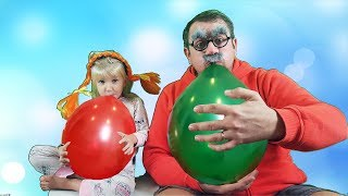 Learn and play with Balloons. Where are you color Song. Fun playtime for Children