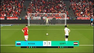 RUSSIA vs EGYPT | Penalty Shootout | PES 2018 Gameplay PC