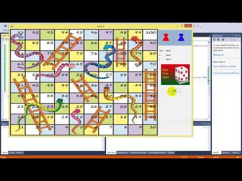Snake Ladder Game In Windows Form C#  (PART-1)