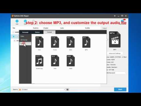 How to rip and convert DVD to MP3?