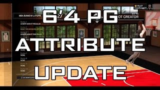 nba 2k17   6 4 pg attribute update   shot creator