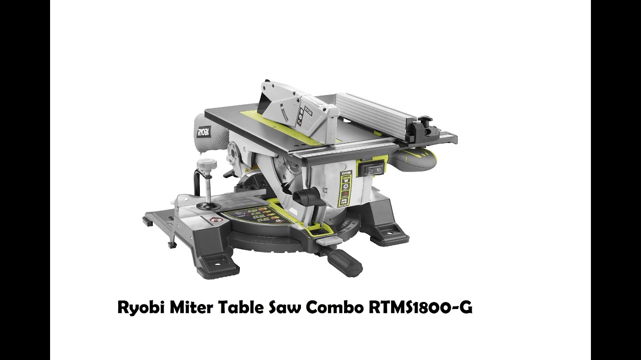 Beautiful Combination Saw Bench Part - 9: Ryobi Miter Table Saw Combo RTMS1800-G - YouTube