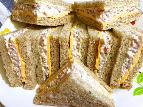 Ham Cheese Tea Sandwiches : Easy Recipe