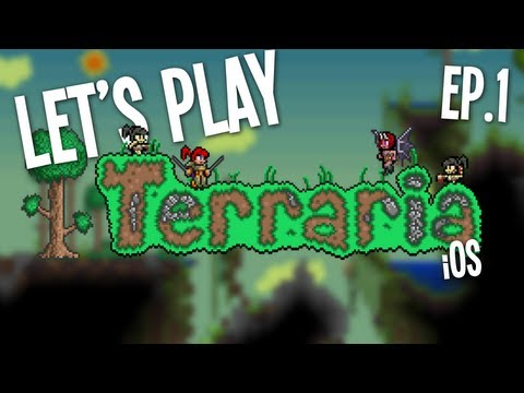 Lets Play Terraria iOS/Android Ep.1 - Jungle House
