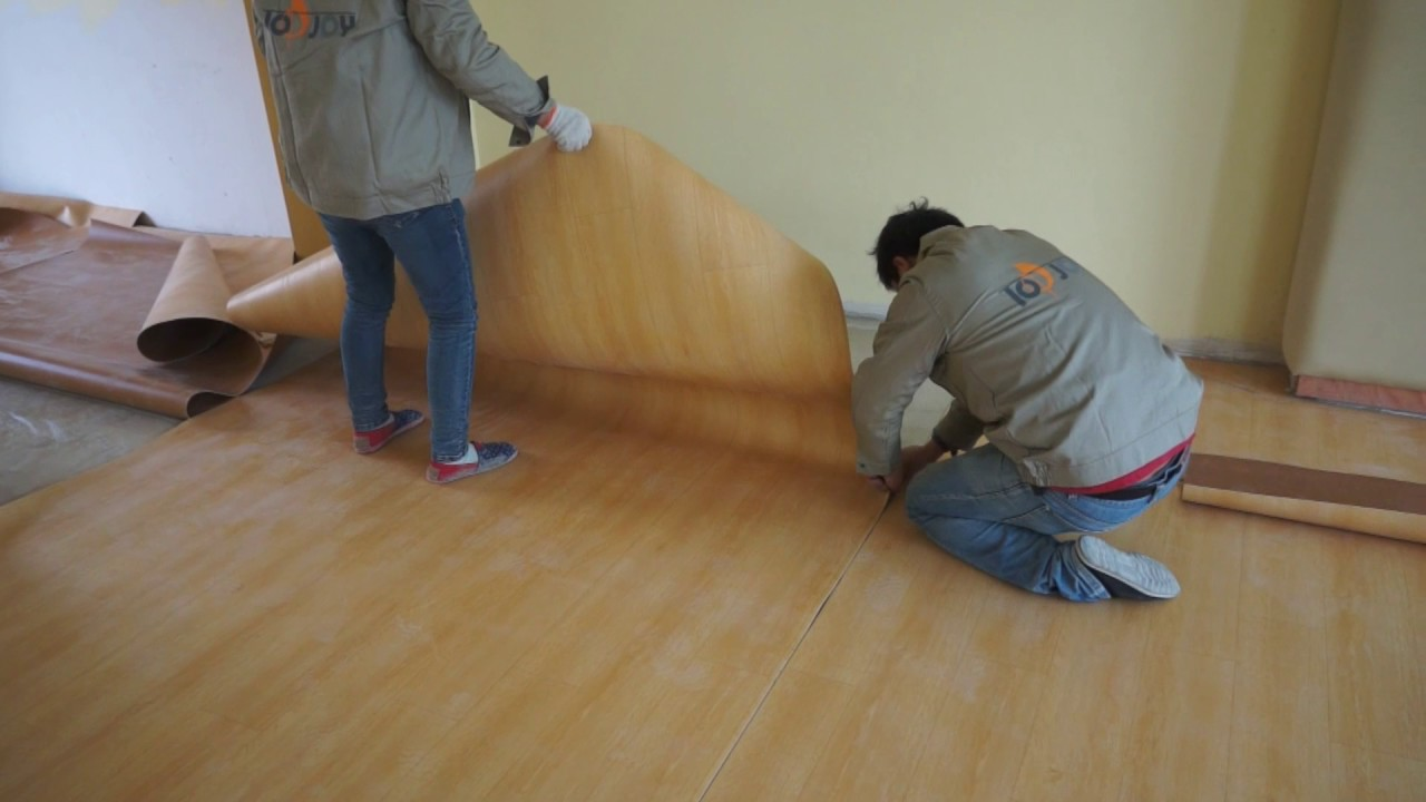 How to install PVC vinyl sheet flooring  YouTube