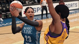 NBA Live 18 - WNBA Minnesota Lynx vs Los Angeles Sparks Gameplay