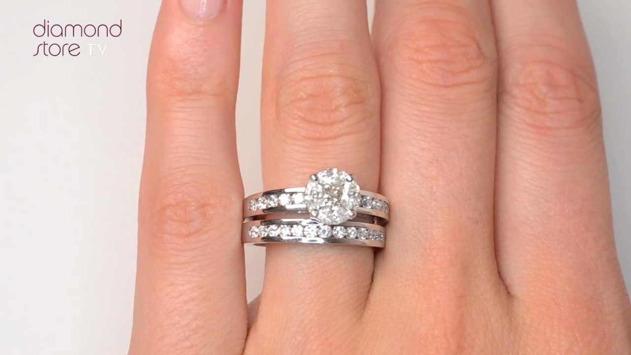 Galileo Set Diamond 200ct 146ct And Platinum 2 Ring Bridal Set