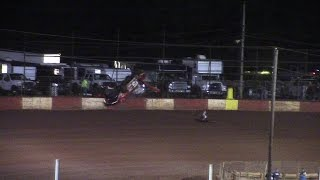 Brian Smith Flips Super Late Model at Dixie Speedway 9/12/15