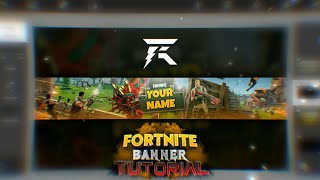 Tutorial | How To Make a Fortnite YouTube Banner in android [Ps Touch] | 100 Likes = Template