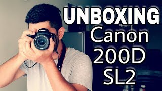 UNBOXING CANON 200D / SL2 IN INDIA | In depth overview and hands on